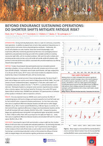 Beyond Endurance Sustaining Operations: Do