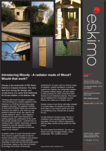 Introducing Woody - A radiator made of Wood