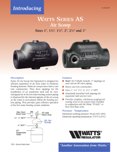 WATTS SERIES AS Air Scoop - Watts Water Technologies
