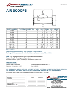 Flanged Air Scoops