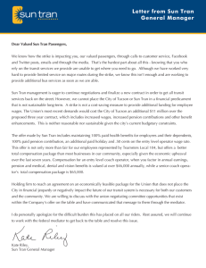 Letter from Sun Tran General Manager