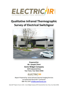 Qualitative Infrared Thermographic Survey of Electrical Switchgear