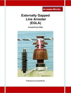 The Externally Gapped Arrester