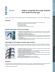 Sediver composite line surge arresters with external series gap