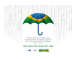 NCD Action Plan Brazil: 2011- 2022