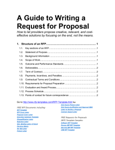 A Guide to Writing a Request for Proposal
