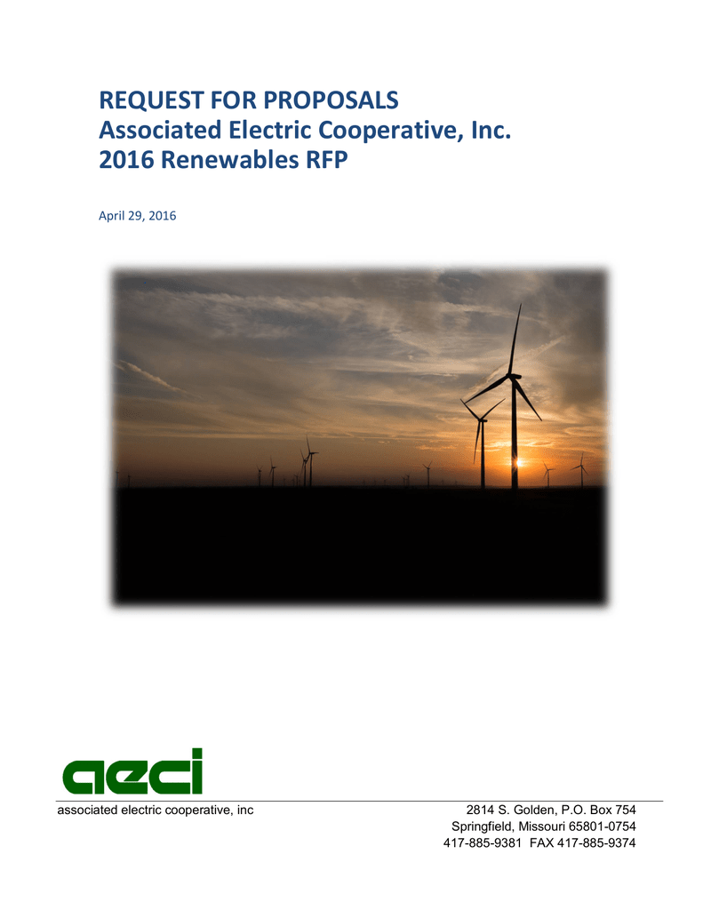 AECI) RFP - Associated Electric Cooperative