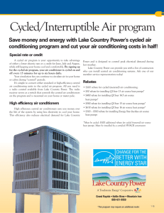 Cycled/Interruptible Air program
