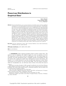 Power-Law Distributions in Empirical Data