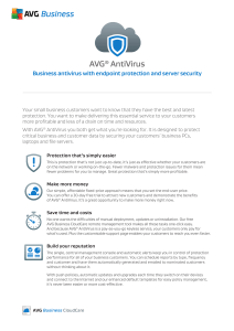 Business antivirus with endpoint protection and server