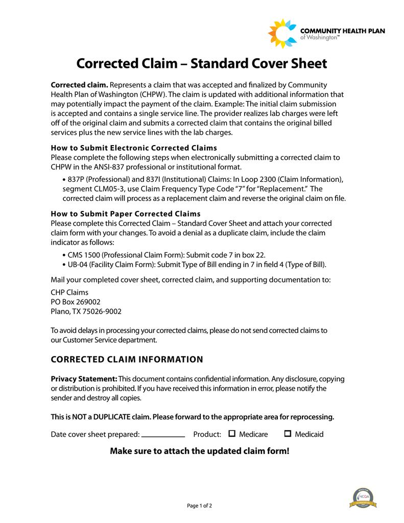 Corrected claim standard cover sheet falaconquin