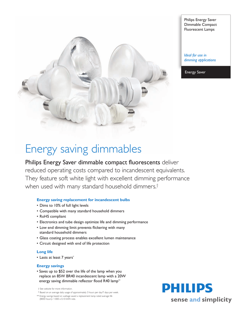 Philips Energy Saver Dimmable Compact Fluorescents Circuit
