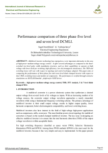 Performance comparison of three phase five level and seven level