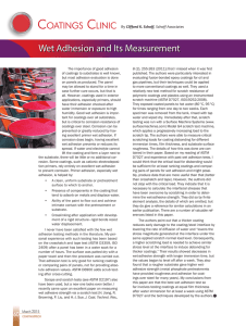 Wet Adhesion and Its Measurement
