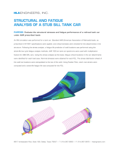structural and fatigue analysis of a stub sill tank car