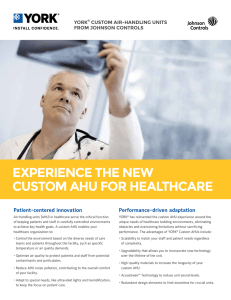experience the new custom ahu for healthcare
