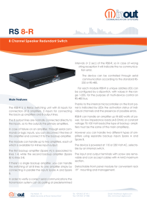 RS 8-R - InOut Communication Systems