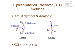 Bipolar Junction Transistor (BJT) Switches