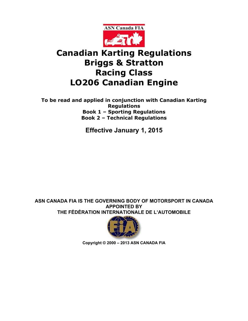 2015 ASN BriggsStratton Canada L206