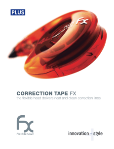 correction tape fx - Plus Corporation of America Plus Corporation of