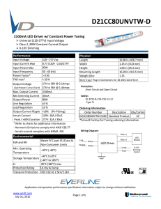 d21cc80unvtw-d - Universal Lighting Technologies