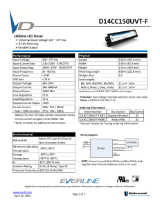D14CC150UVT-F - Universal Lighting Technologies