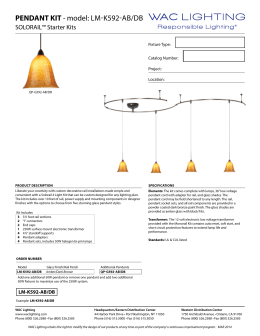 PENDANT KIT - model: LM-K592-AB/DB