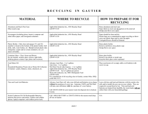 Gautier Recycling - Mississippi Department of Environmental Quality