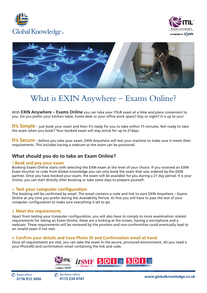 What is EXIN Anywhere – Exams Online?