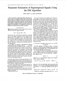 Parameter estimation of superimposed signals using the EM algorithm