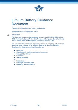 Air Transport Of Section Ii Lithium Batteries