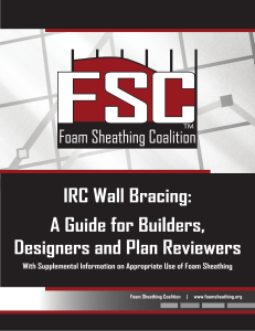 IRC Wall Bracing: A Guide for Builders, Designers and Plan Reviewers