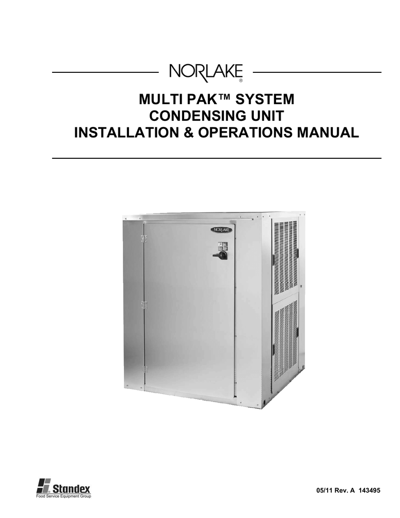 Multi Pak Systems Condensing Unit Iom Instructions Nor Lake Norlake Wiring Diagrams