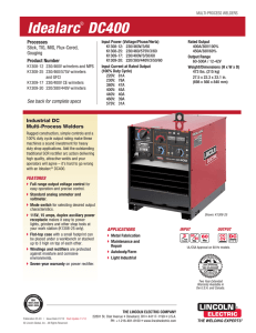 Idealarc DC400 Product Info