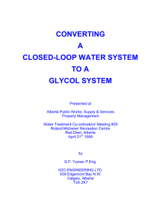 converting a closed-loop water system to a glycol system
