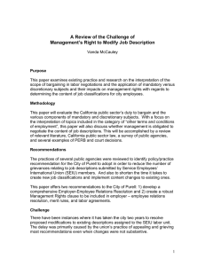 A Review of the Challenge of Management`s Right to Modify Job