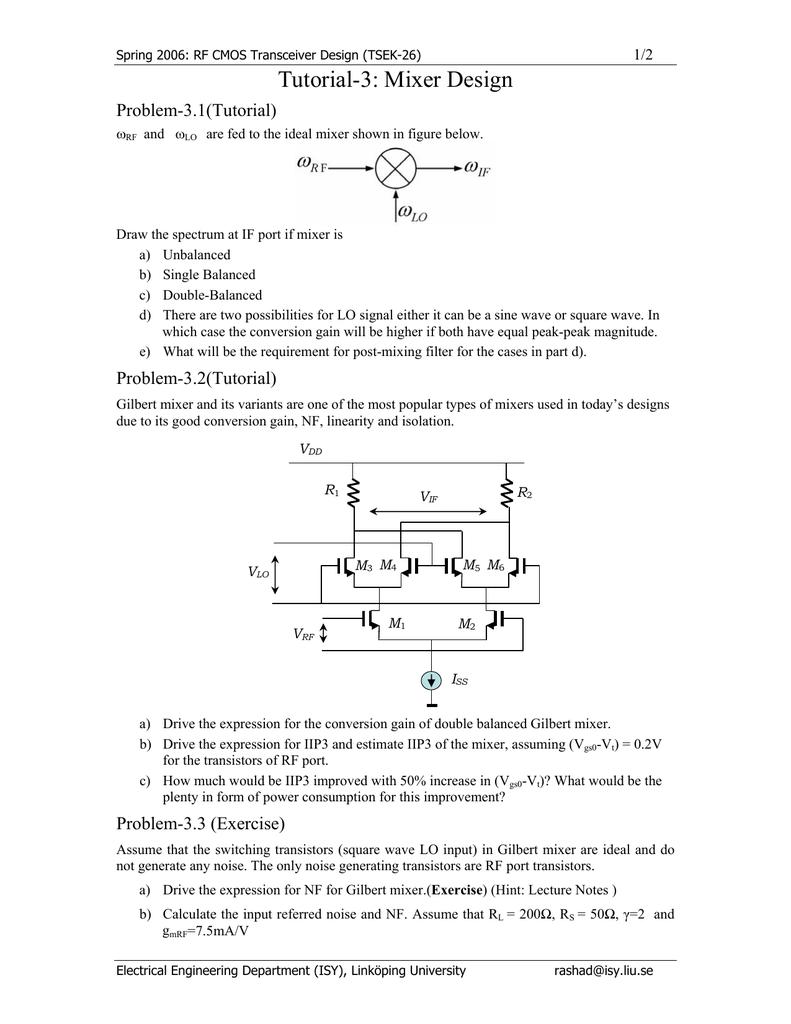 Gilbert mixer design tutorial