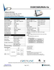 D10CC60UNVA-Vx - Universal Lighting Technologies