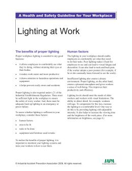 Lighting at Work