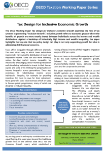 Tax Design for Inclusive Economic Growth