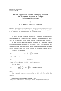 On an Application of the Averaging Method for Nonlinear Systems of