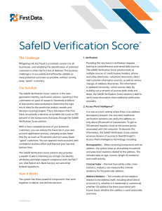 SafeID Verification Score