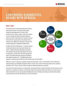 Continuous Diagnostics with RedSeal (Federal)