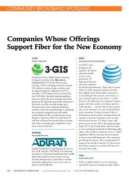 Companies Whose Offerings Support Fiber for the New Economy