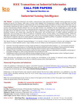 Industrial Sensing Intelligence - IEEE Transactions on Industrial