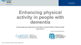 Enhancing physical activity in people with dementia
