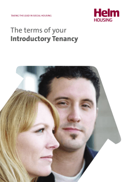 Terms of your Introductory Tenancy