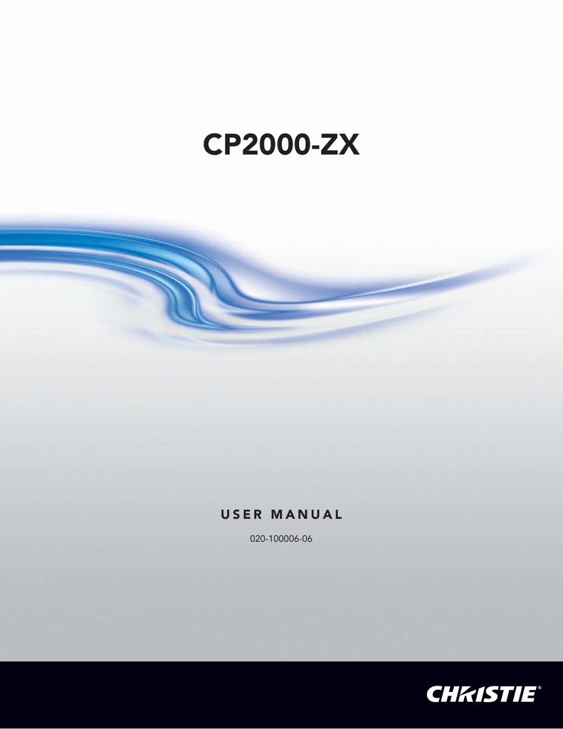 christie cp2000 zx manual