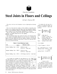 Steel Joists in Floors and Ceilings