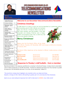 December telecommunications newsletter 09